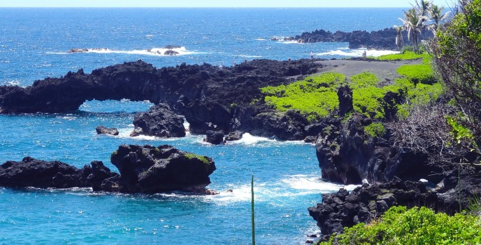 lava rock ocean scene at Hana Maui