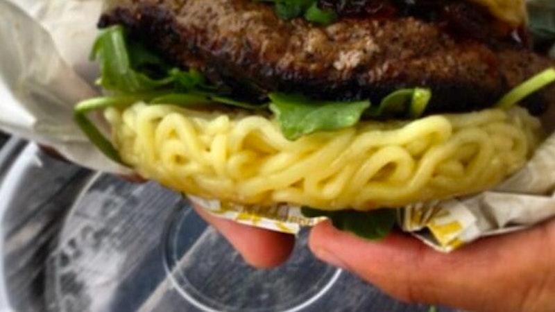 Try a Ramen Burger in Hawaii