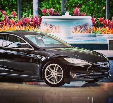 Tesla 4 door sedan