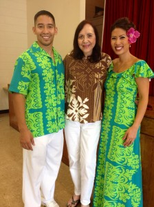 Members of the Royal Hawaiian Band showing off their new uniforms