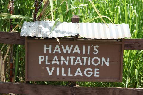 The entrance sign to Hawaii Plantation Village in Waipahu