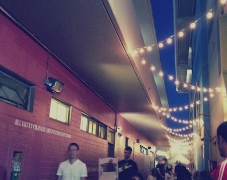 People enjoying a chill ambiance at the Honolulu Night Market