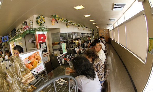 The dining area at Liliha Bakery