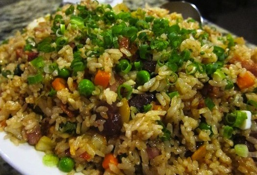 Plate of fried rice from Side Street Inn in Honolulu