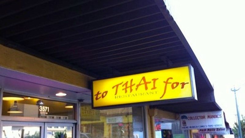To Thai For
