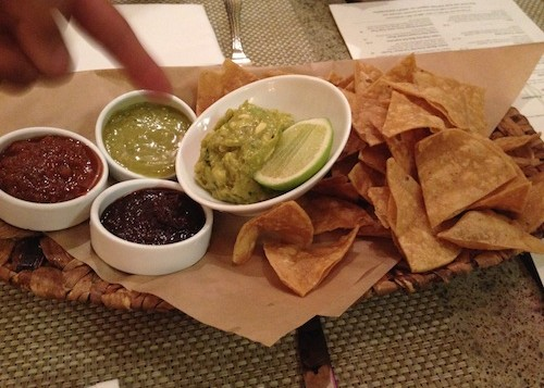 Guacamole and chips from Cactus in Kailua