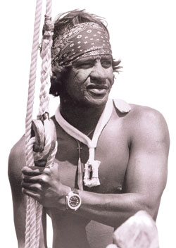 Portrait picture of legendary waterman Eddie Aikau