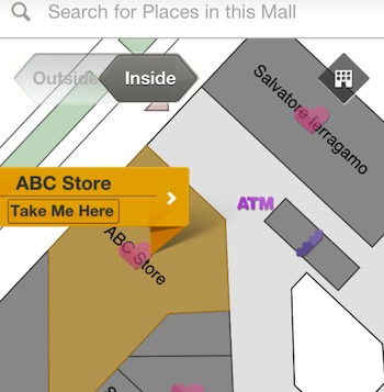 Map of shops on ShopSuey app