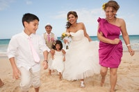 family wedding on the beach Getting married on Oahu