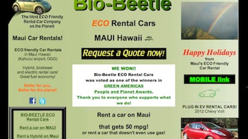 Sustainable Maui Rental Cars