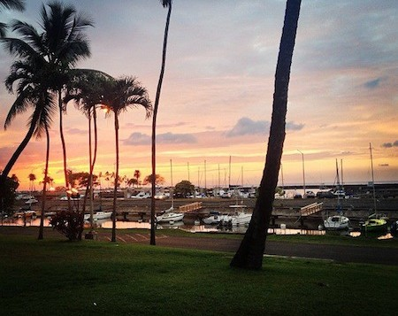Haleiwa Harbor during sunset