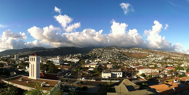View of Kaimuki from atop Christmas Tree Park