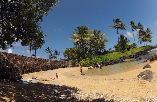 Pocket beach on Kauai's south shore