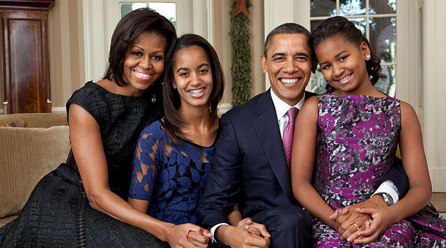 The Obamas pose for annual photo