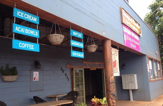 Scoop Of Paradise coffee and ice cream shop in Waialua