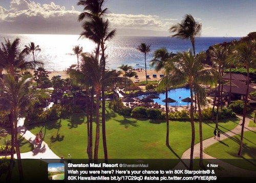 View of ocean and Sheraton Maui Resort pool