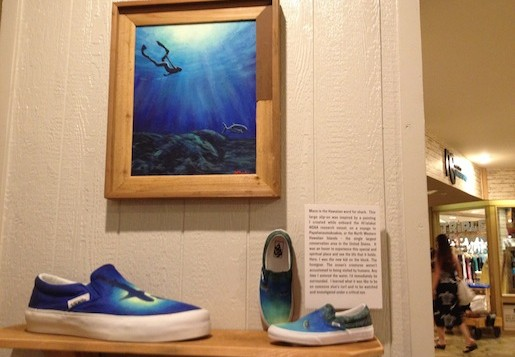 Vans shoe art on display at Turtle Bay