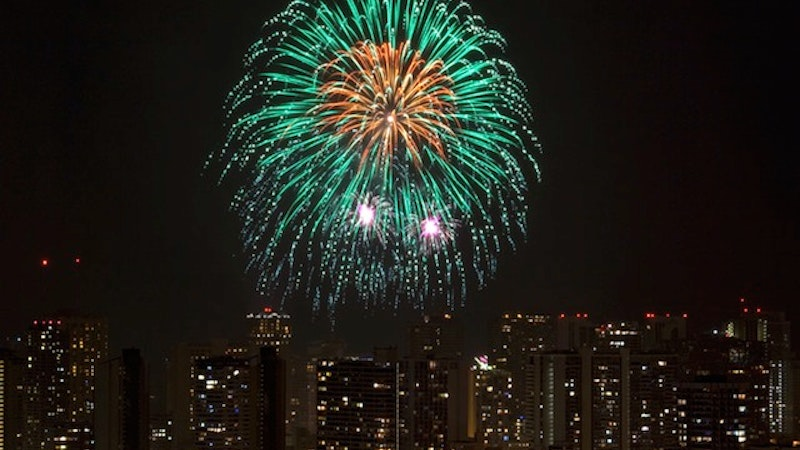 Ringing in the New Year from Hawaii