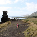 Pele's Chair on Ka Iwi Trail with Koko Head in background
