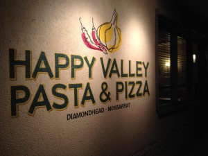 The sign for Happy Valley Pasta & Pizza