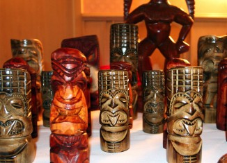 Some Tiki Candles on display