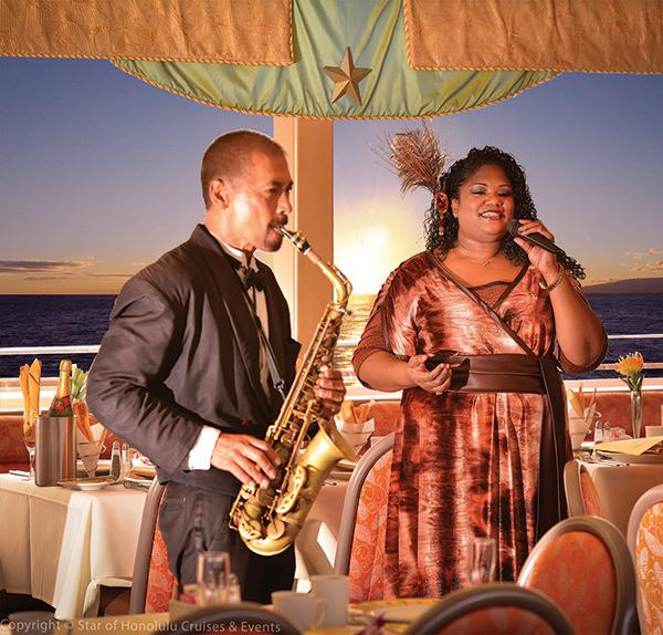 Jazz singer aboard the Star of Honolulu