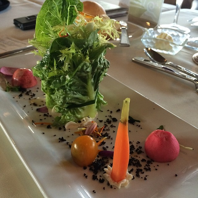 fresh greens and pickled vegetables, tossed in an herb vinaigrette