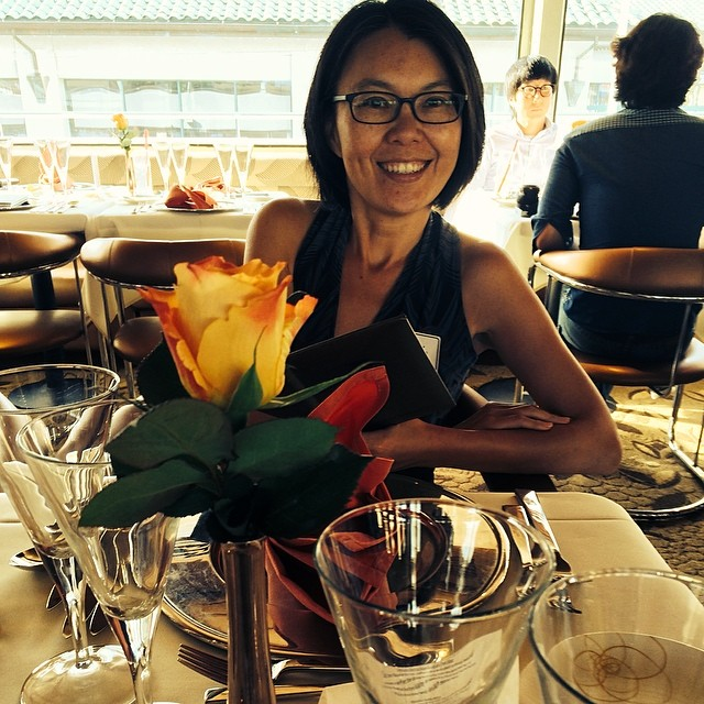 Yaling Fisher at 5 star dining table