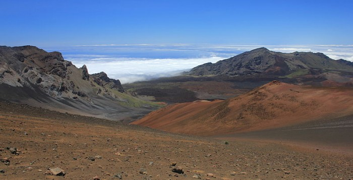 Haleakala crater on Maui
