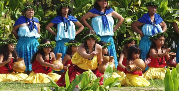 Hula dancers at a Luau