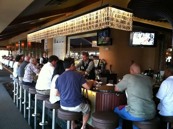 Patrons at the Signature bar in Honolulu
