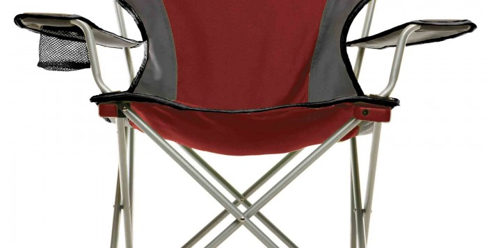 red Collapsable chair