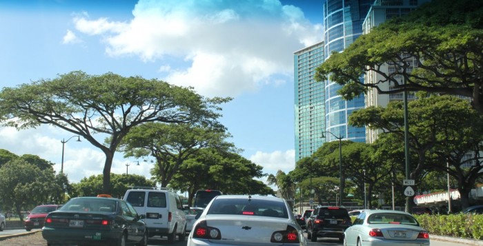 Traffic congestion in Waikiki
