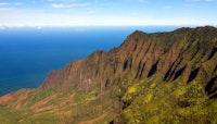 A beautiful mountain ridge on Kauai