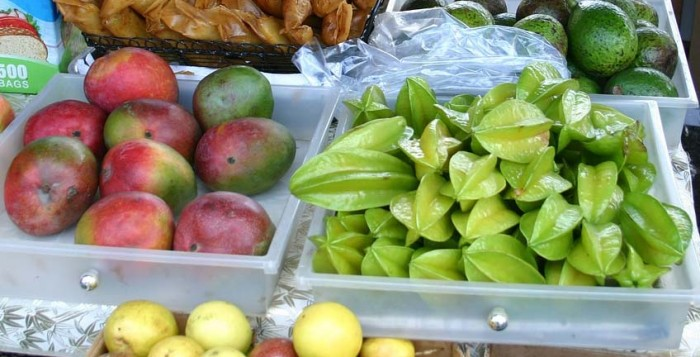 A variety of Hawaiian Fruits on a table