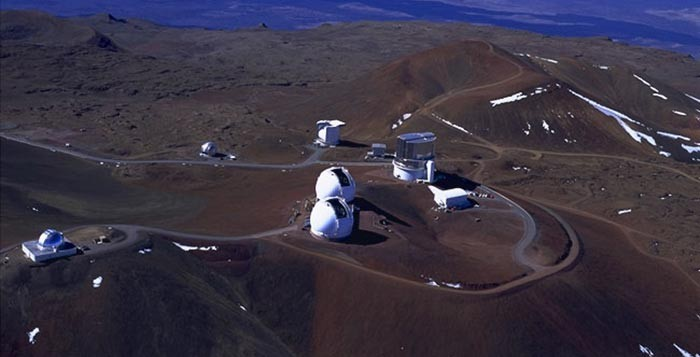 The Observatories on top of Mauna Kea in Hawaii