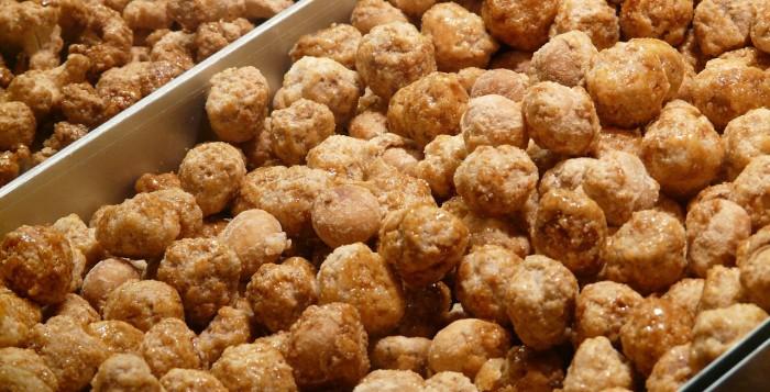 Close up of macadamia nuts