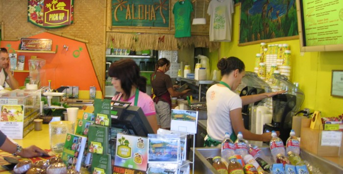 Inside Lanikai Juice