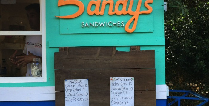 The front of Sandy's Sandwiches