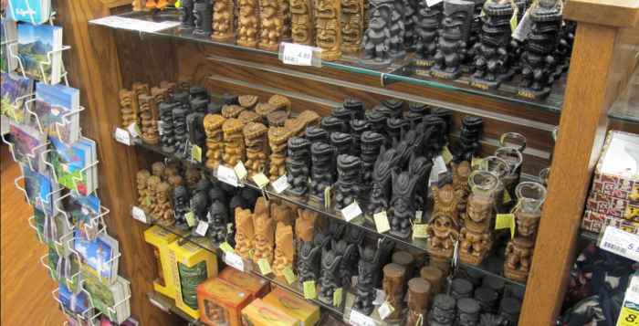 display of Tiki Souvenirs at longs drungs