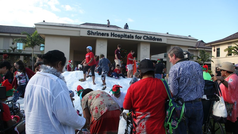 The Hawaii Shriners Hospital Snow Day was Cool!