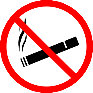 No e-smoking sign