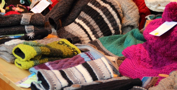 collection of various wool socks symbolizing the cold weather in Hawaii