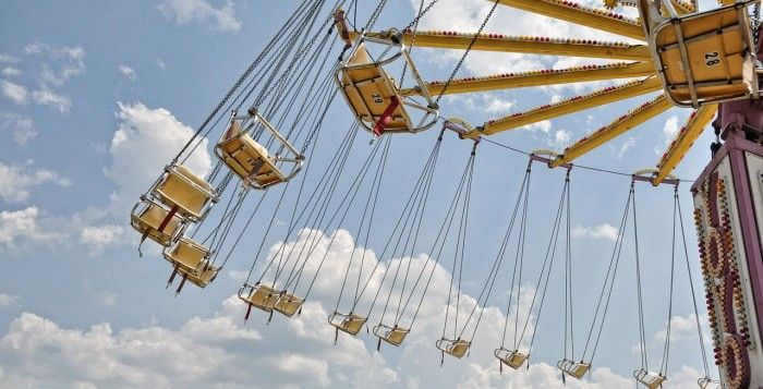 Chairs swinging on carnival ride