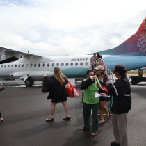 island air airpane on tarmac on Kauai airport