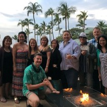 Bloggers from Oahu at Menele Bay Lanai during Sunset