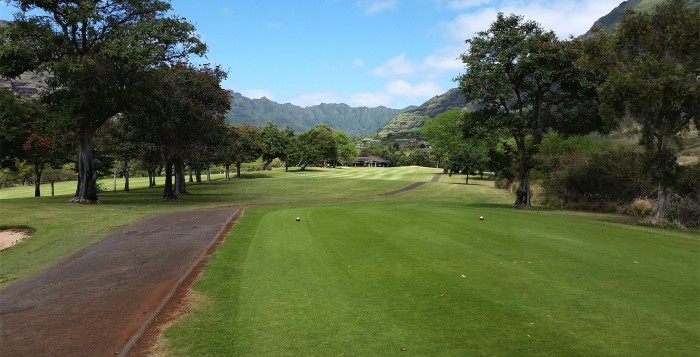 One of the fairways in Makaha
