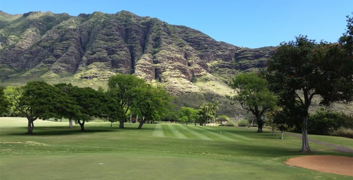 Makaha Mountains from Golf course