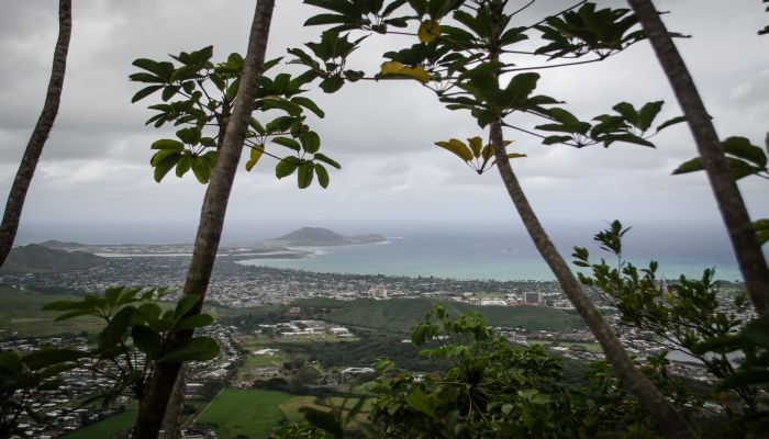View fromthe top of the Olomana Trail on Oahu
