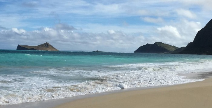 View of Rabbit Island from Waimanlo Beach